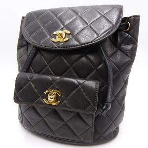 * CHANEL CC Matelasse Chain Backpack Lambskin